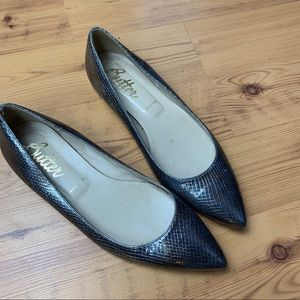 Butter Metallic Pointed Toe Flats size 38